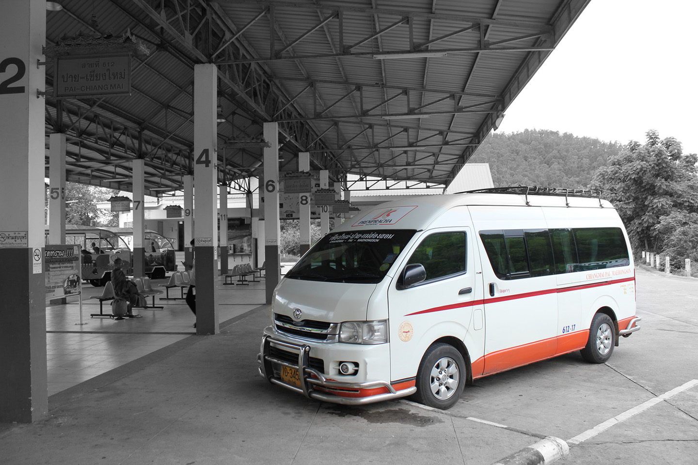 Bus from Chiang Mai to Pai
